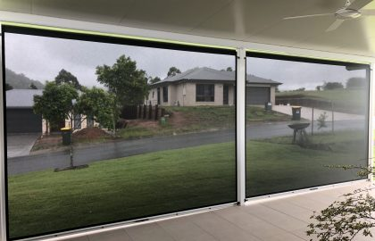 looking out through ziptrak awnings in yandina