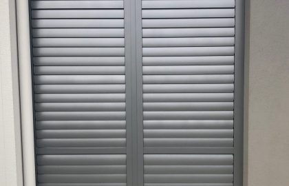 outdoor aluminium shutter at bli bli