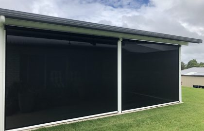 outdoor ziptrak patio blinds in yandina