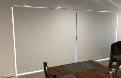 roller blinds over sliding door at palmview