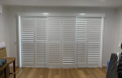 sliding shutters in bedroom in noosa