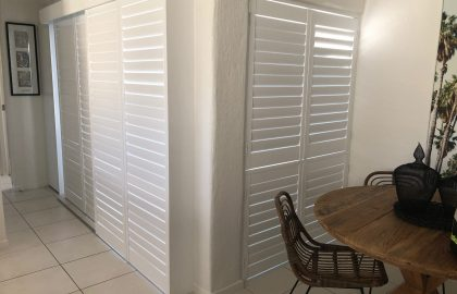 white plantation shutters at noosa