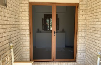 woodgrain secureview double security doors
