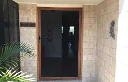 woodgrain secureview security door in bli bli