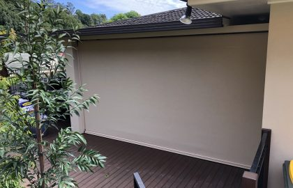 ziptrak outdoor patio blind in nambour